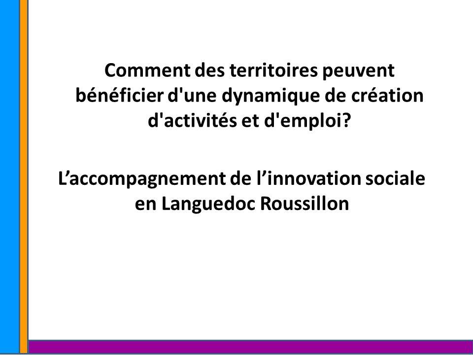 Comment des territoires peuvent bénéficier d'une dynamique de création d'activités et d'emploi? Laccompagnement de linnovation sociale en Languedoc Ro
