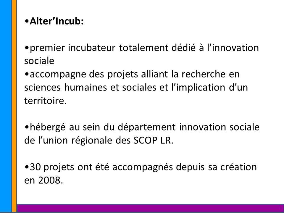 AlterIncub: premier incubateur totalement dédié à linnovation sociale accompagne des projets alliant la recherche en sciences humaines et sociales et