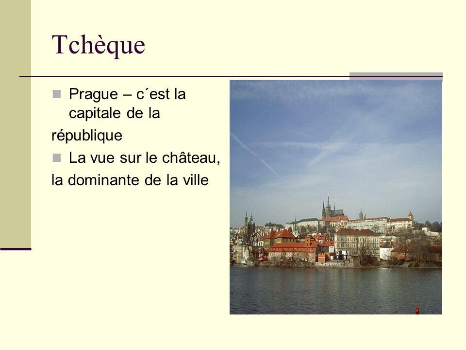 Tchèque Prague – c´est la capitale de la république La vue sur le château, la dominante de la ville