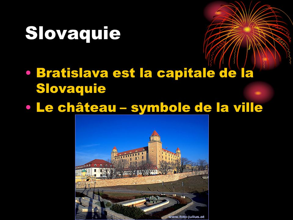 Slovaquie Bratislava est la capitale de la Slovaquie Le château – symbole de la ville