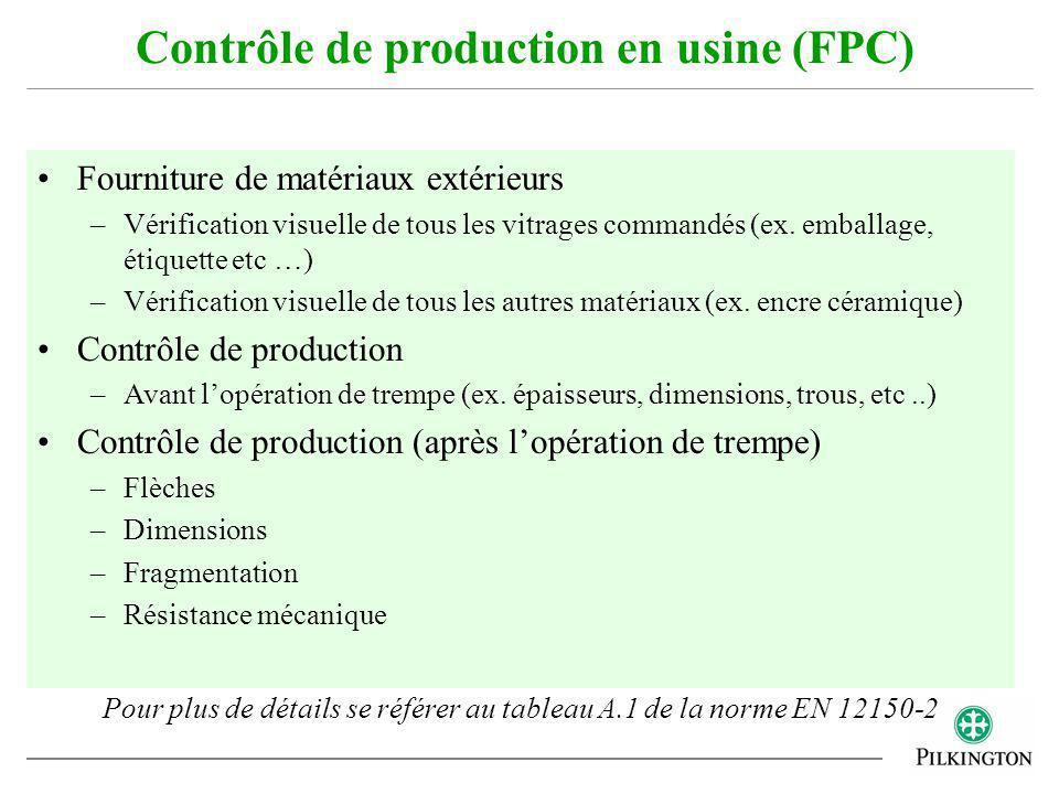 Fourniture de matériaux extérieurs –Vérification visuelle de tous les vitrages commandés (ex. emballage, étiquette etc …) –Vérification visuelle de to