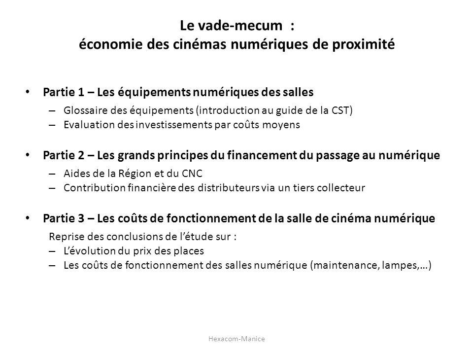 Le vade-mecum : économie des cinémas numériques de proximité Partie 1 – Les équipements numériques des salles – Glossaire des équipements (introductio