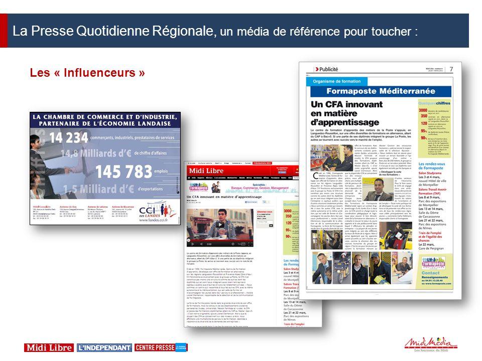 La Presse Quotidienne Régionale, un média de référence pour toucher : Les « Influenceurs »