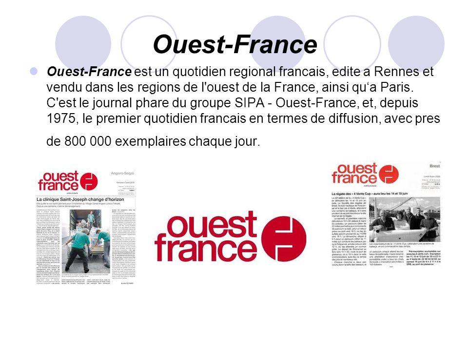 Ouest-France Ouest-France est un quotidien regional francais, edite a Rennes et vendu dans les regions de l'ouest de la France, ainsi qua Paris. C'est