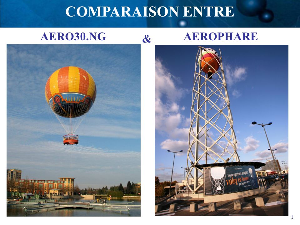1 AEROPHAREAERO30.NG COMPARAISON ENTRE &