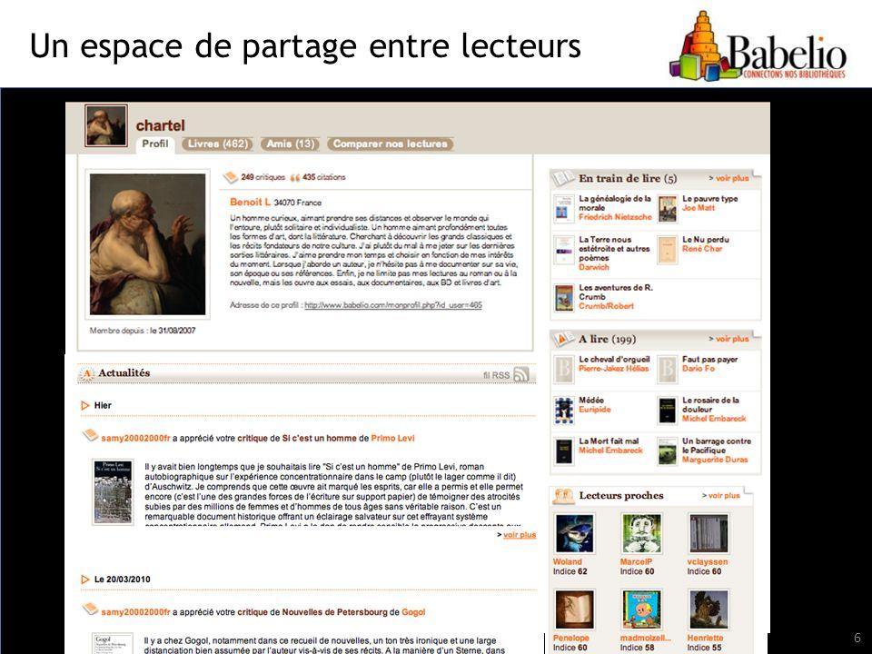 Un espace de partage entre lecteurs 6