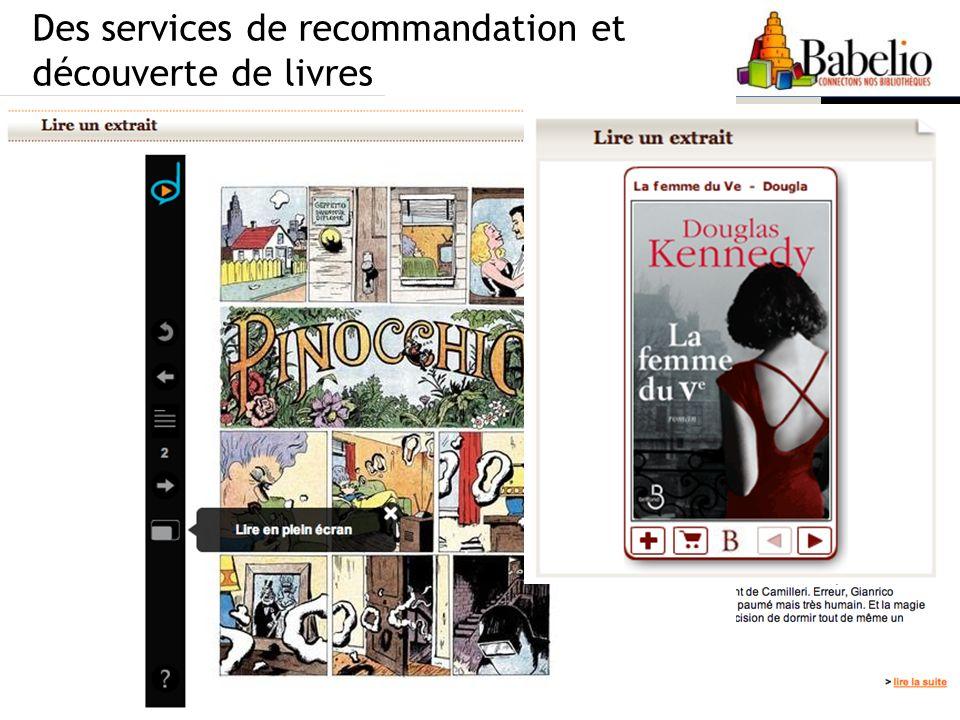 Des services de recommandation et découverte de livres 7