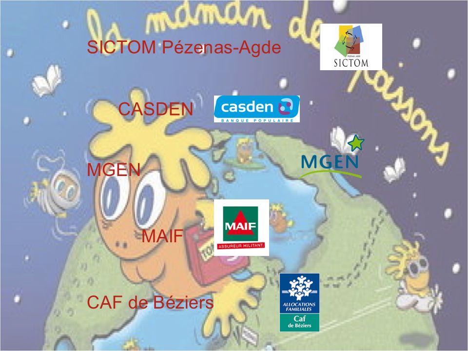 CAF de Béziers MAIF MGEN CASDEN SICTOM Pézenas-Agde
