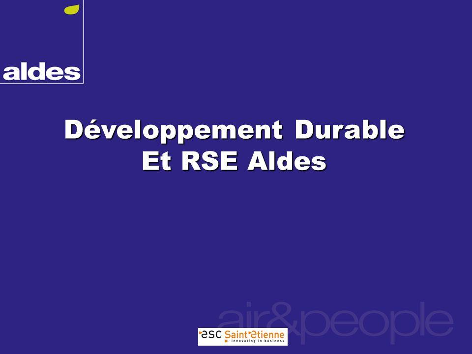 Développement Durable Et RSE Aldes