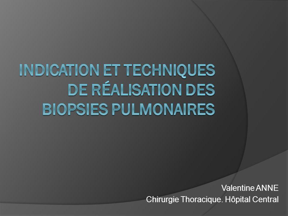 Valentine ANNE Chirurgie Thoracique. Hôpital Central