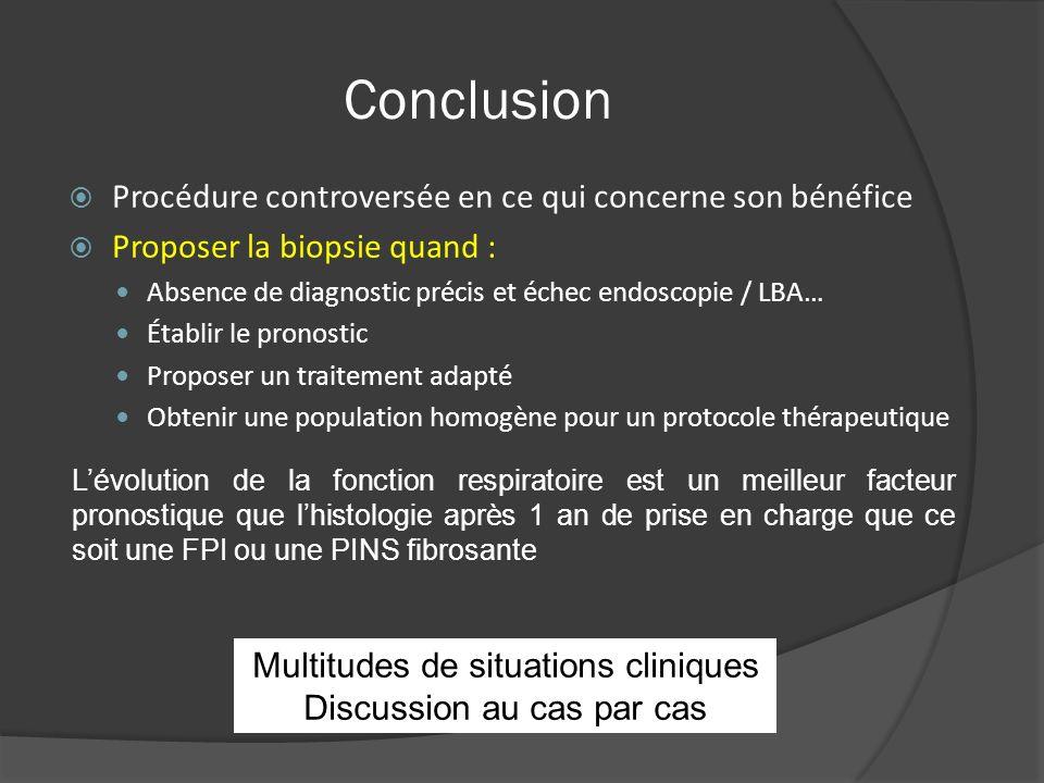 Conclusion Procédure controversée en ce qui concerne son bénéfice Proposer la biopsie quand : Absence de diagnostic précis et échec endoscopie / LBA…