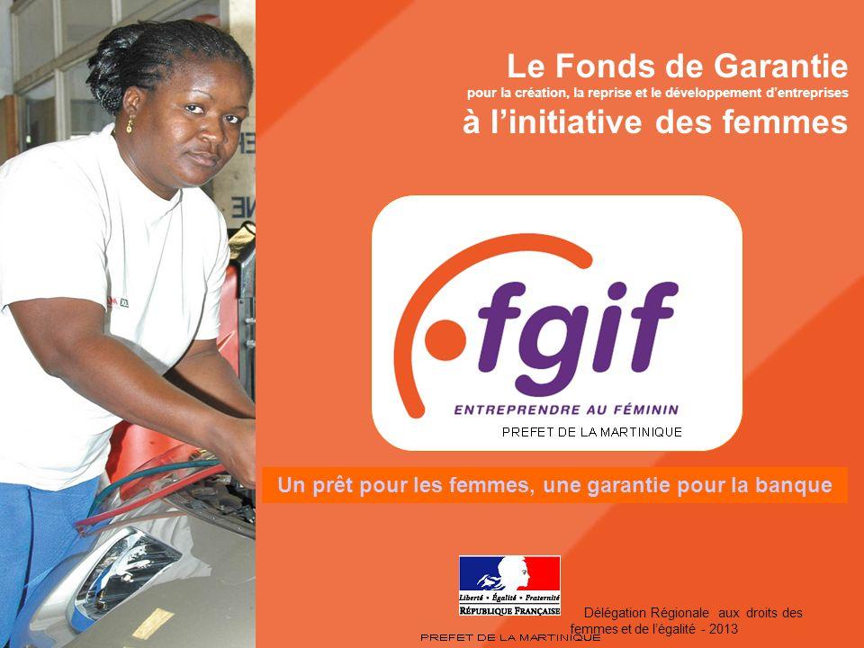 Service des droits des femmes et de légalité - 2008 Le Fonds de Garantie pour la création, la reprise et le développement dentreprises à linitiative d