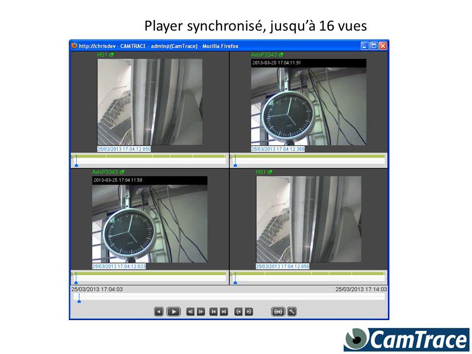 Player synchronisé, jusquà 16 vues