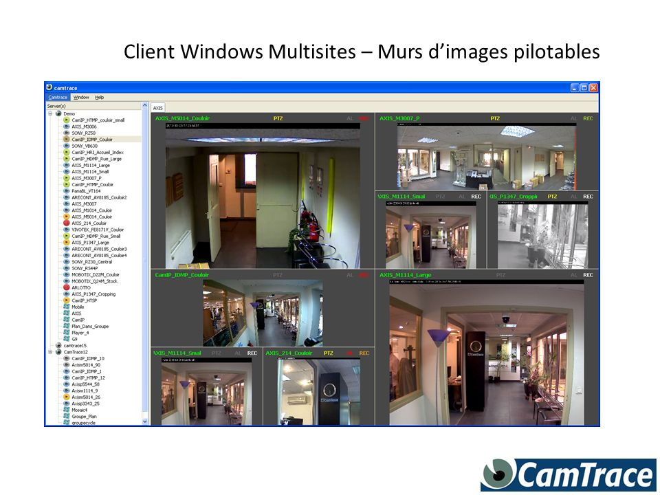 Client Windows Multisites – Murs dimages pilotables