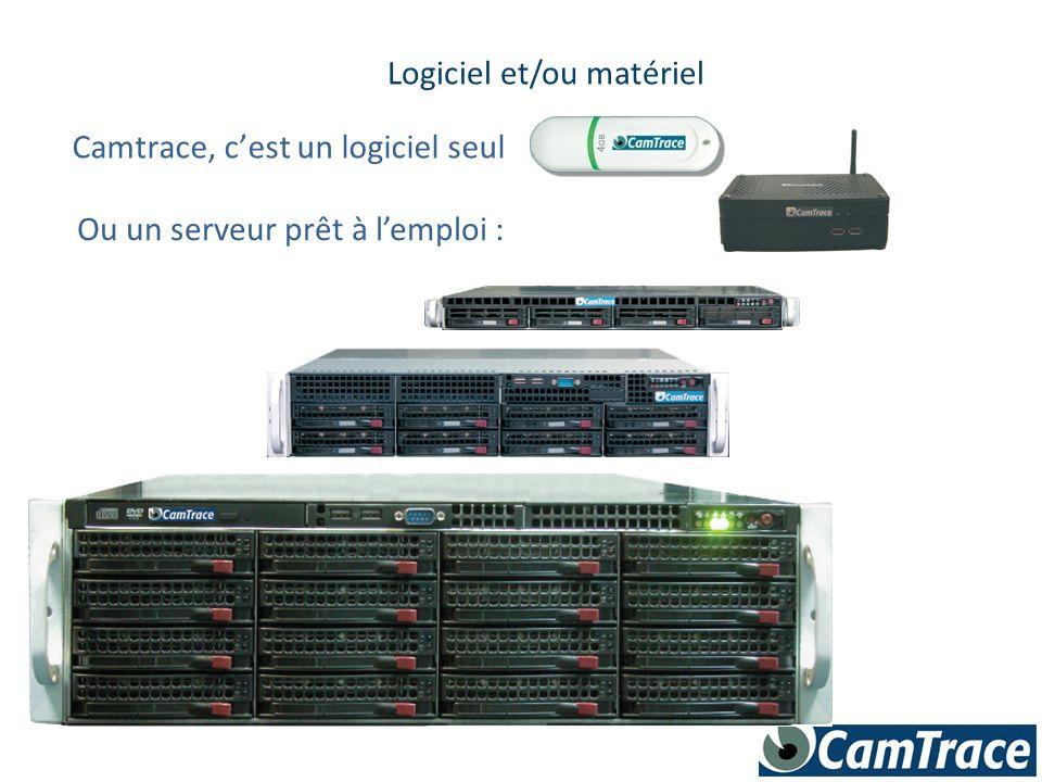 Camtrace, cest un logiciel seul Logiciel et/ou matériel Ou un serveur prêt à lemploi :