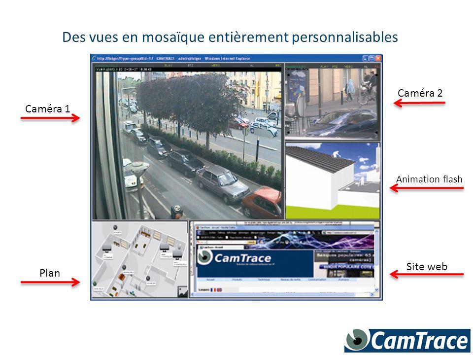 Des plans interactifs permettent daccéder facilement à toutes les caméras, ou à dautres plans incrustés Plan 2