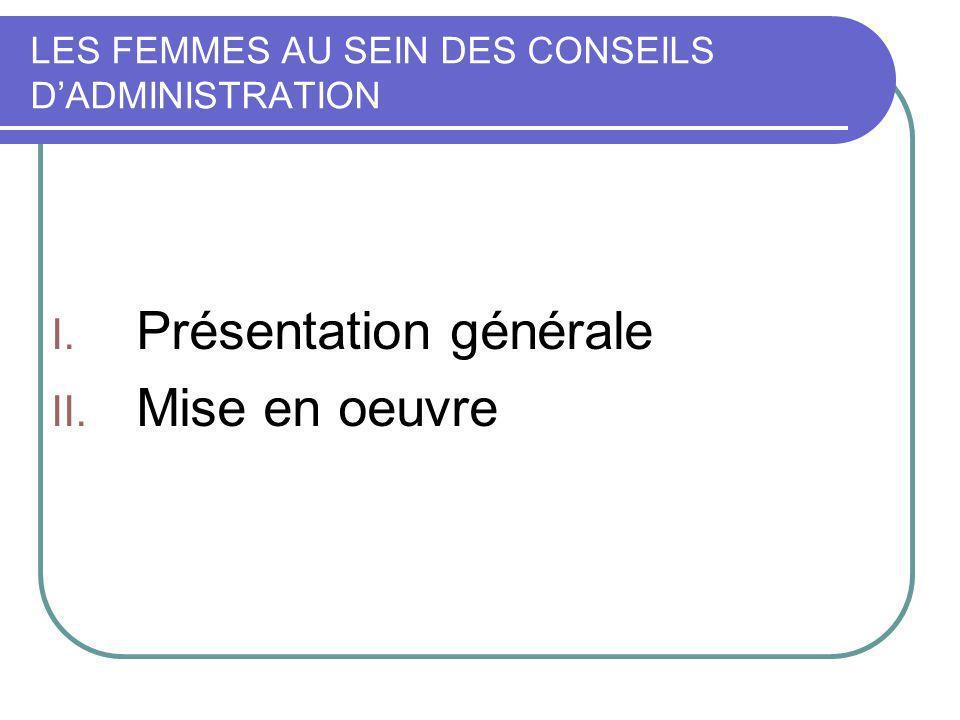 PRESENTATION GENERALE A.Contexte et buts de la loi B.