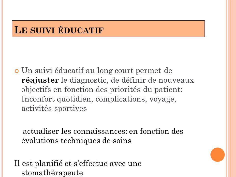 L E SUIVI ÉDUCATIF Un suivi éducatif au long court permet de réajuster le diagnostic, de définir de nouveaux objectifs en fonction des priorités du pa