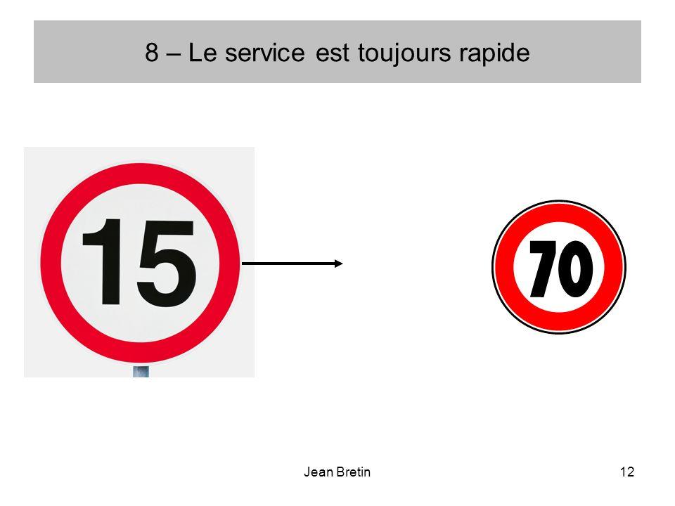 Jean Bretin12 8 – Le service est toujours rapide