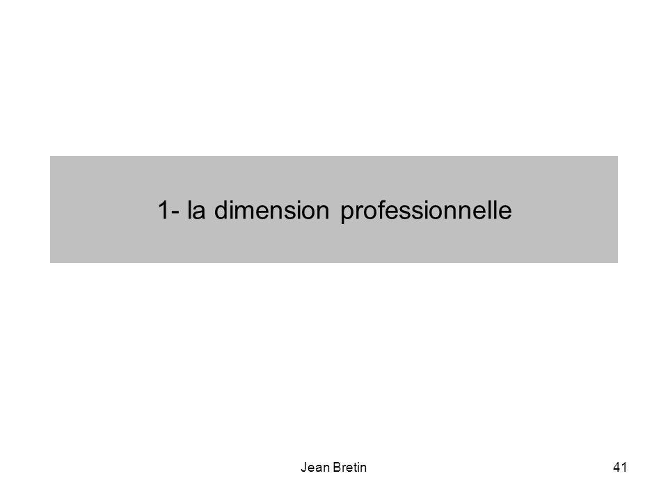 Jean Bretin41 1- la dimension professionnelle