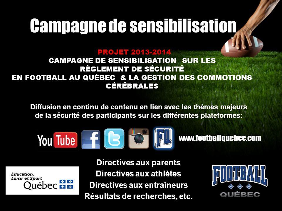 Campagne de sensibilisation Diffusion en continu de contenu en lien avec les thèmes majeurs de la sécurité des participants sur les différentes platef