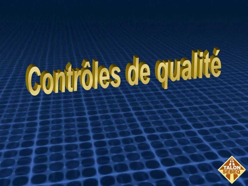 TALON SEBEQ certifié ISO 9001:2000 Nous décrivons nos contrôles de qualité pour chacun des procédés et ceux de nos sous-traitants lorsque nous sommes lentrepreneur généralNous décrivons nos contrôles de qualité pour chacun des procédés et ceux de nos sous-traitants lorsque nous sommes lentrepreneur général Nous démontrons nos procédures de contrôle et fournissons nos rapports de chantier quotidiennementNous démontrons nos procédures de contrôle et fournissons nos rapports de chantier quotidiennement