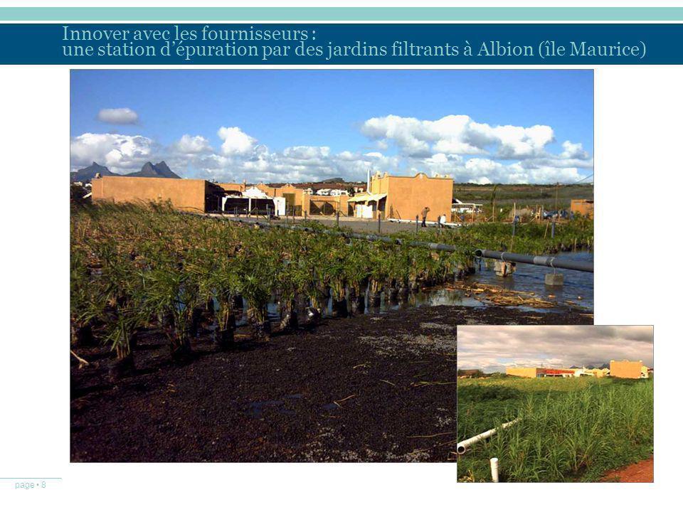 page 8 Innover avec les fournisseurs : une station dépuration par des jardins filtrants à Albion (île Maurice)