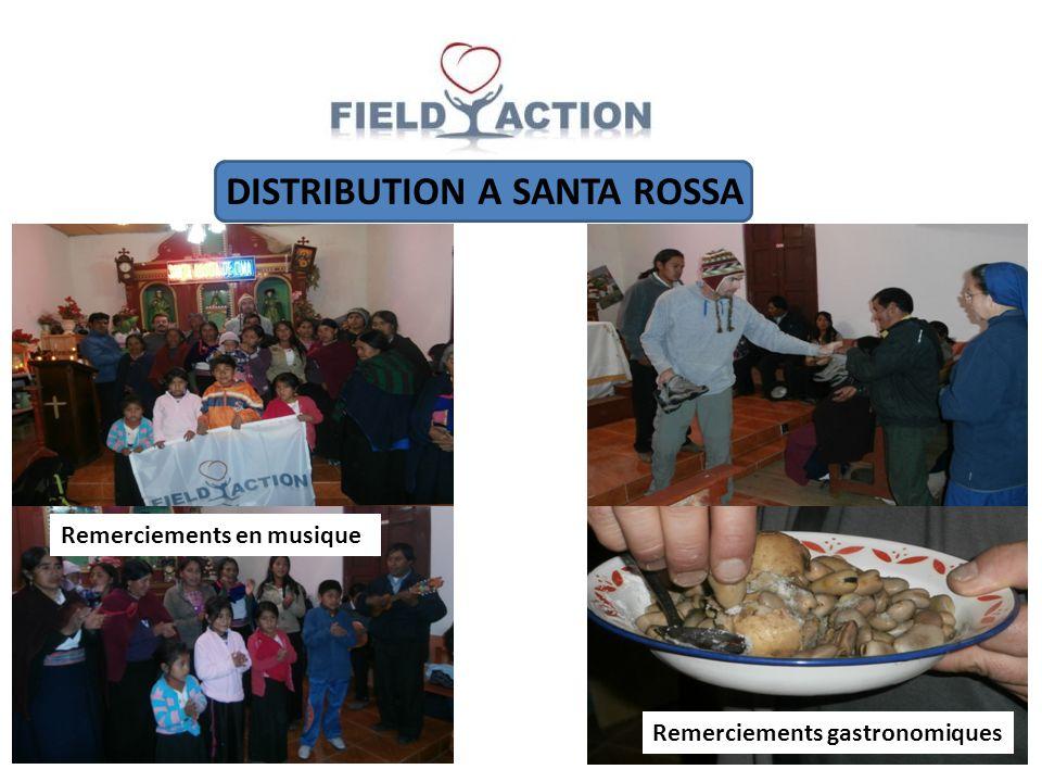 DISTRIBUTION A SANTA ROSSA Remerciements en musique Remerciements gastronomiques