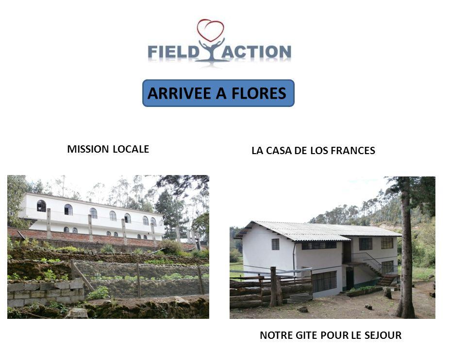 ARRIVEE A FLORES MISSION LOCALE LA CASA DE LOS FRANCES NOTRE GITE POUR LE SEJOUR