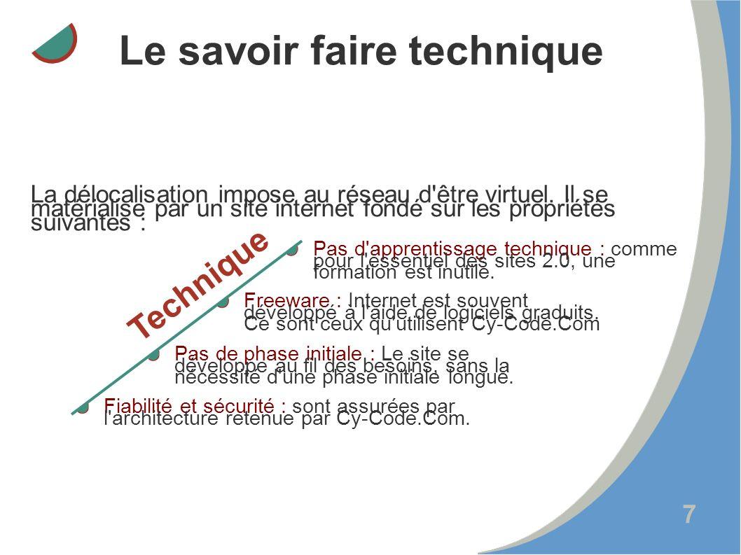 7 La délocalisation impose au réseau d être virtuel.