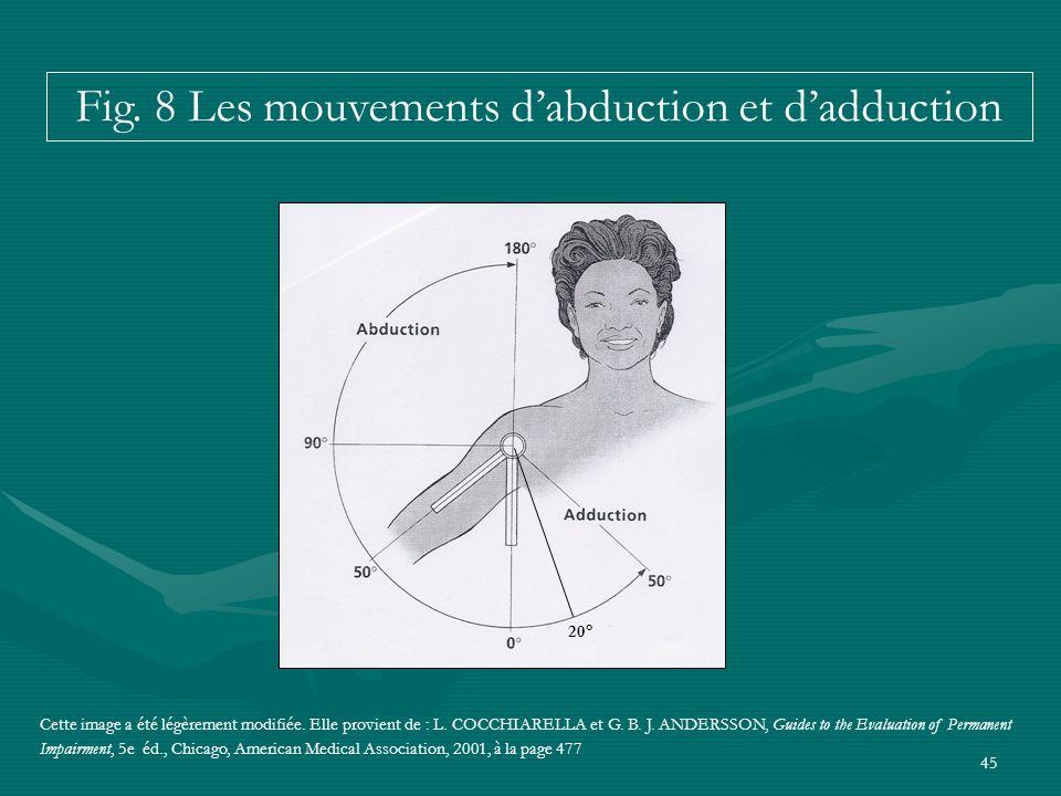 45 Cette image a été légèrement modifiée. Elle provient de : L. COCCHIARELLA et G. B. J. ANDERSSON, Guides to the Evaluation of Permanent Impairment,