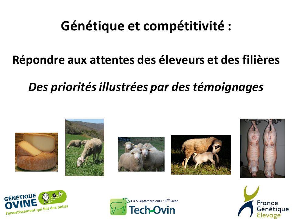Génétique et compétitivité : Répondre aux attentes des éleveurs et des filières Des priorités illustrées par des témoignages