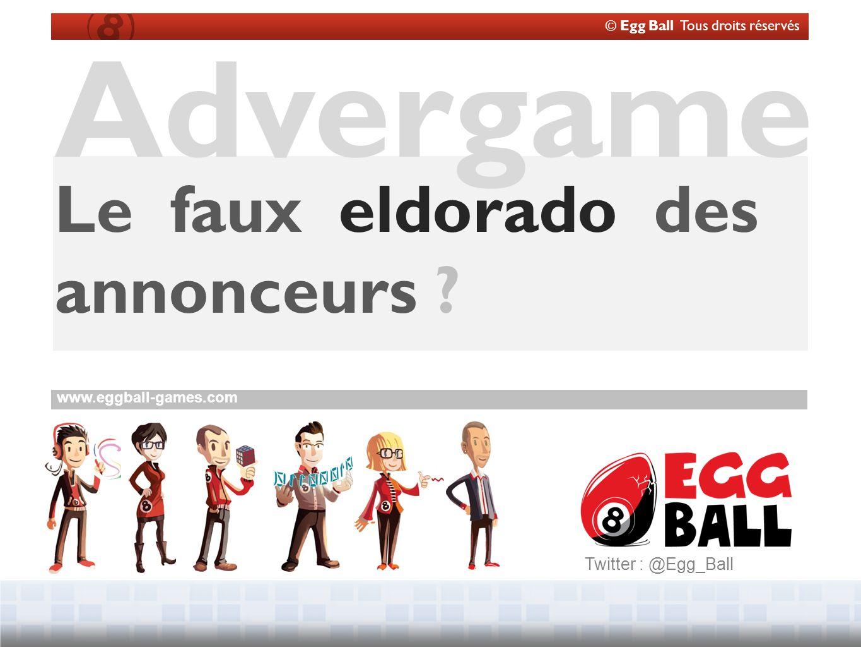 © Egg Ball Tous droits réservés www.eggball-games.com Advergame Le faux eldorado des annonceurs .