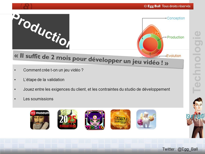 © Egg Ball Tous droits réservés Twitter : @Egg_Ball Technologie Comment crée t-on un jeu vidéo .