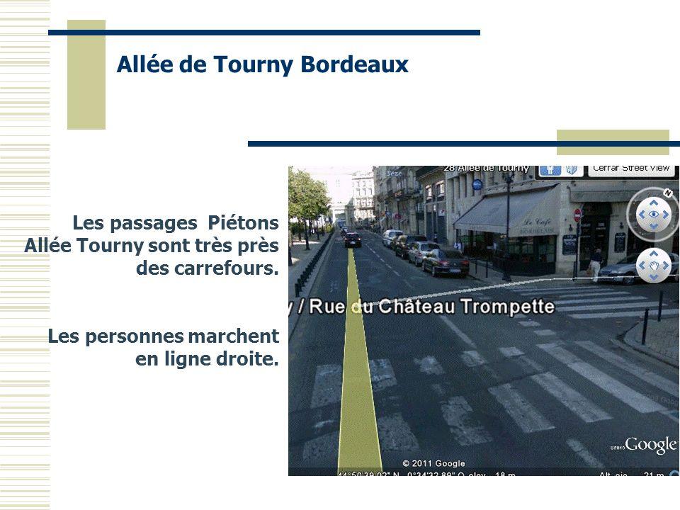 Les passages Piétons Allée Tourny sont très près des carrefours. Les personnes marchent en ligne droite. Allée de Tourny Bordeaux