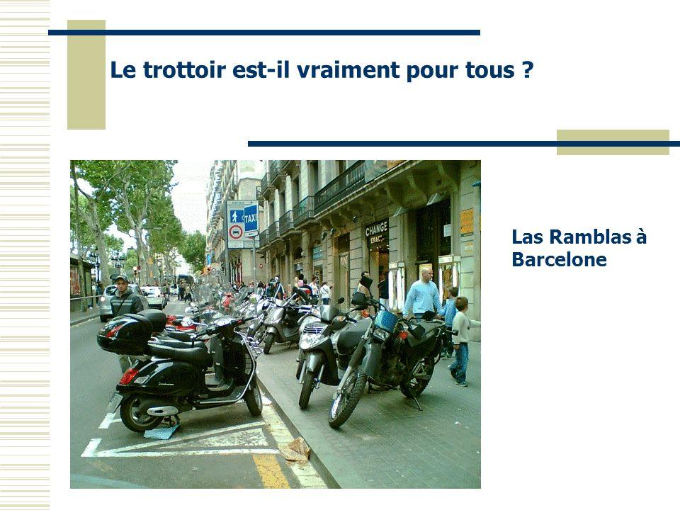 Le trottoir est-il vraiment pour tous ? Las Ramblas à Barcelone