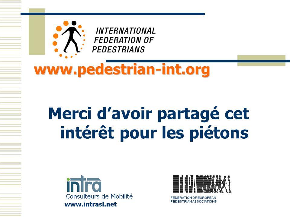 Merci davoir partagé cet intérêt pour les piétons www.pedestrian-int.org