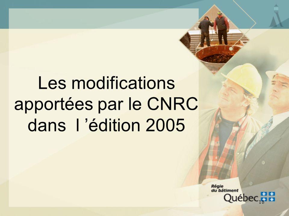 17 Le Code national de la plomberie - Canada 2005