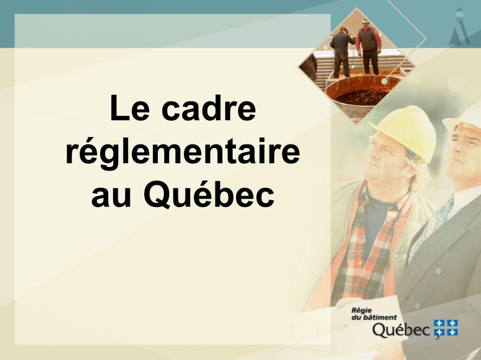 2 PLAN DE LA PRÉSENTATION Le cadre réglementaire au Québec Le Code national de la plomberie - Canada 2005 Les modifications apportées par le CNRC au C