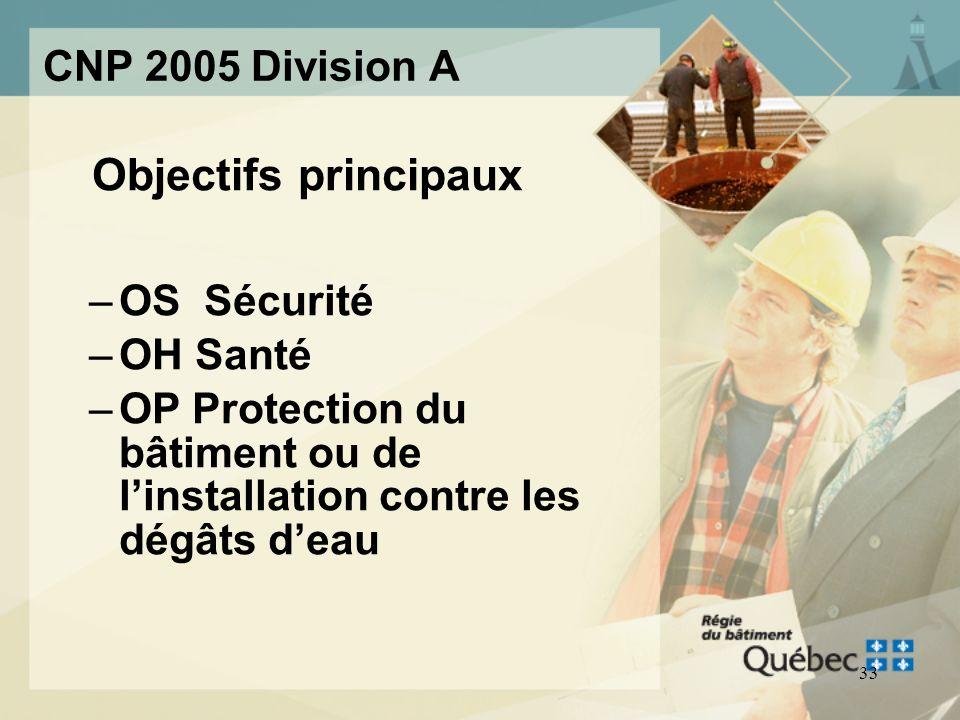 32 CNP 2005 Division A Conformité, objectifs et énoncés fonctionnels