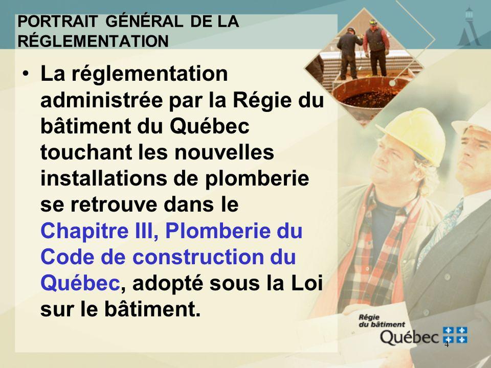 3 Le cadre réglementaire au Québec