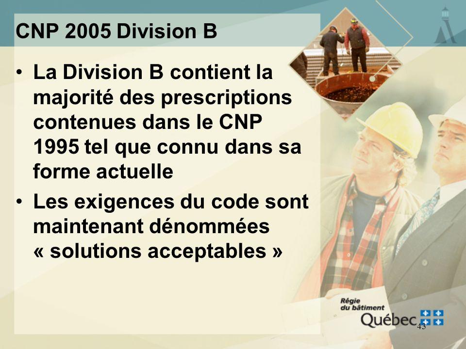 42 CNP 2005 Division B Les solutions acceptables