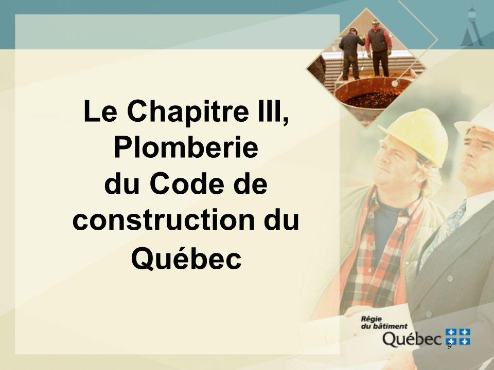 8 CONTENU DU CODE DE CONSTRUCTION Chapitre I, Bâtiment Chapitre II, Gaz Chapitre III, Plomberie Chapitre IV, Ascenseurs Chapitre V, Électricité Chapit