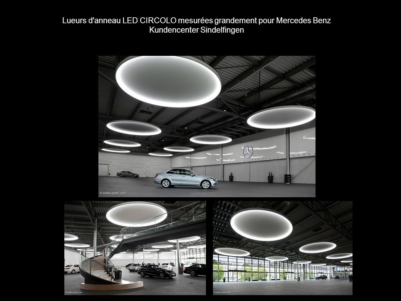 Lueurs d'anneau LED CIRCOLO mesurées grandement pour Mercedes Benz Kundencenter Sindelfingen