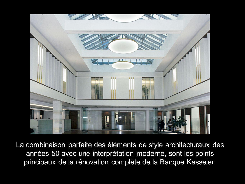 La combinaison parfaite des éléments de style architecturaux des années 50 avec une interprétation moderne, sont les points principaux de la rénovatio