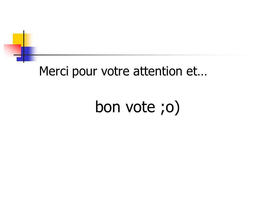 Merci pour votre attention et… bon vote ;o)