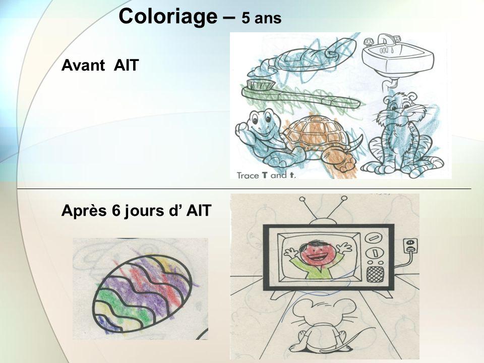 Coloriage – 5 ans Après 6 jours d AIT Avant AIT