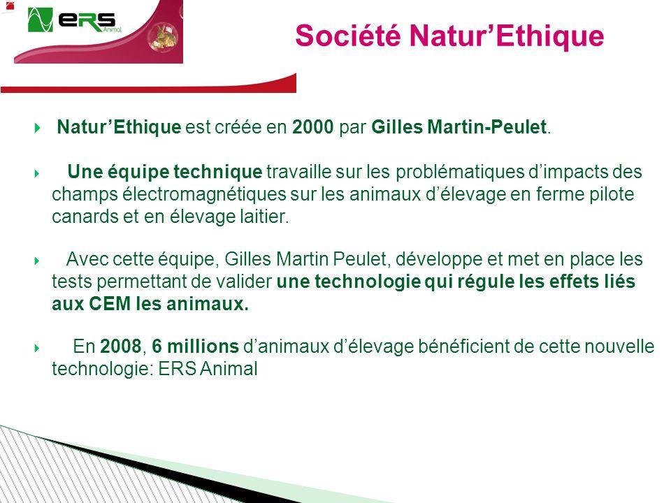 Société NaturEthique NaturEthique est créée en 2000 par Gilles Martin-Peulet.