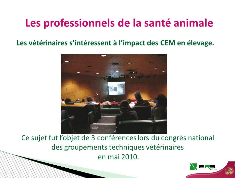 Les vétérinaires sintéressent à limpact des CEM en élevage.