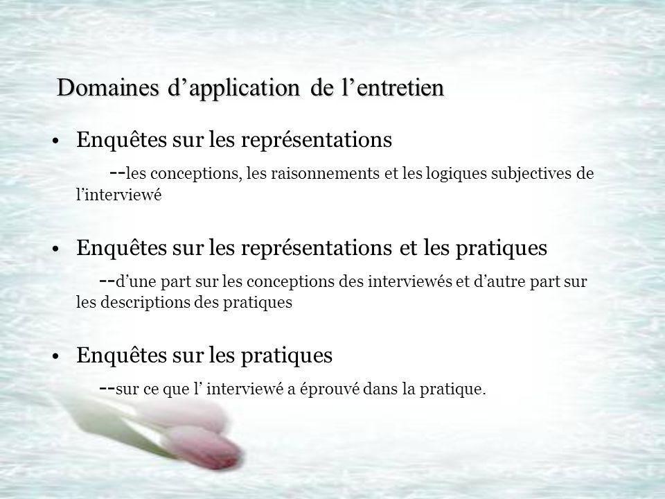 Différentes étapes de lentretien Différentes étapes de lentretien Etape I La préparation de lentretien